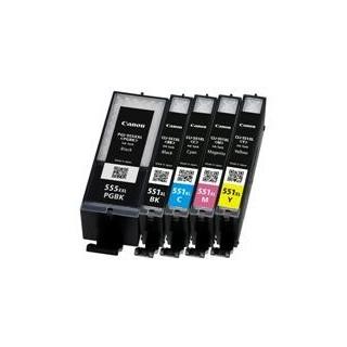 11ML Com para Canon Pixma IP7250,MG5450,MG6350CLI-551XLBK.