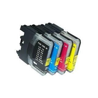 18ML Brother Compatible LC61C LC980C LC1100C Alta Capacidad