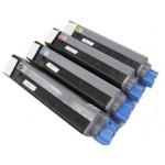 Amarillo compatible para OKI C5550 C5800 C5900 -5K43324421